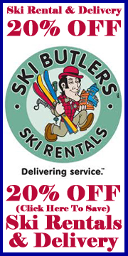SAVE 20% OFF SKI RENTALS and DELIVERY